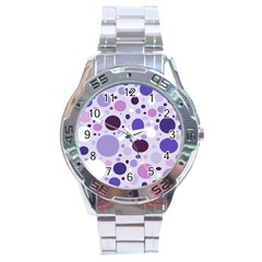 Passion For Purple Stainless Steel Watch
