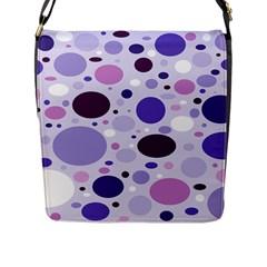 Passion For Purple Flap Closure Messenger Bag (Large)