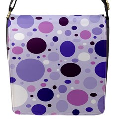 Passion For Purple Flap Closure Messenger Bag (small)