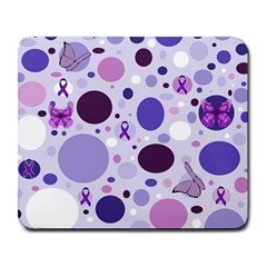 Purple Awareness Dots Large Mouse Pad (Rectangle)