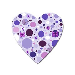 Purple Awareness Dots Magnet (Heart)