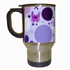 Purple Awareness Dots Travel Mug (White)