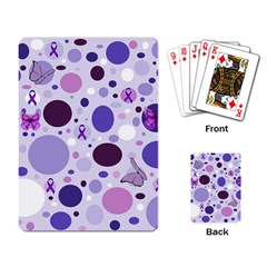 Purple Awareness Dots Playing Cards Single Design