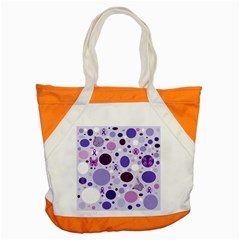 Purple Awareness Dots Accent Tote Bag