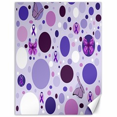 Purple Awareness Dots Canvas 18  x 24  (Unframed)