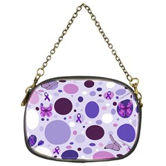 Purple Awareness Dots Chain Purse (One Side)