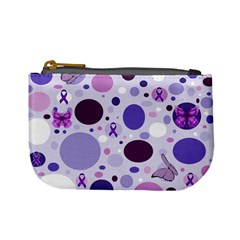 Purple Awareness Dots Coin Change Purse