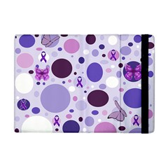 Purple Awareness Dots Apple Ipad Mini Flip Case