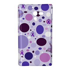Purple Awareness Dots Sony Xperia ZL (L35H) Hardshell Case