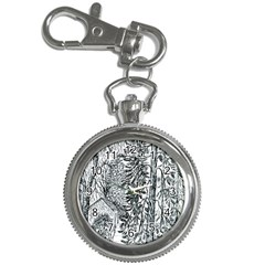Castle Yard in Winter  by Ave Hurley of ArtRevu ~ Key Chain Watch