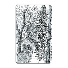 Castle Yard in Winter  by Ave Hurley of ArtRevu ~ Magnet (Rectangular)