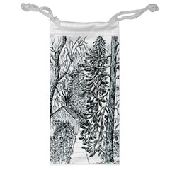 Castle Yard in Winter  by Ave Hurley of ArtRevu ~ Jewelry Bag