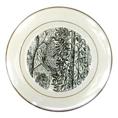 Castle Yard in Winter  by Ave Hurley of ArtRevu ~ Porcelain Plate