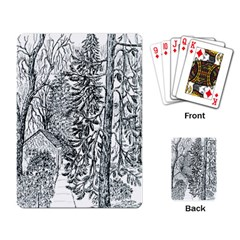 castle Yard In Winter  By Ave Hurley Of Artrevu   Playing Cards Single Design