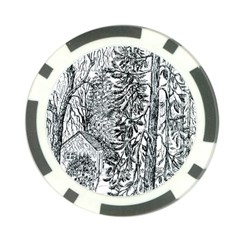 Castle Yard in Winter  by Ave Hurley of ArtRevu ~ Poker Chip Card Guard (10 pack)