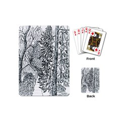 Castle Yard in Winter  by Ave Hurley of ArtRevu ~ Playing Cards (Mini)