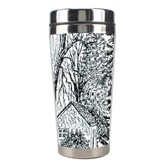 Castle Yard in Winter  by Ave Hurley of ArtRevu ~ Stainless Steel Travel Tumbler