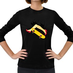 Cinderella Skaters Women s Long Sleeve T-shirt (Dark Colored)