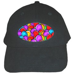Colored Easter Eggs Black Baseball Cap