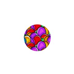 Colored Easter Eggs 1  Mini Button Magnet
