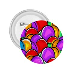 Colored Easter Eggs 2.25  Button