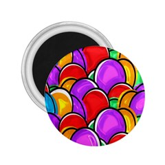 Colored Easter Eggs 2 25  Button Magnet