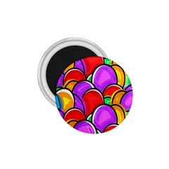 Colored Easter Eggs 1.75  Button Magnet