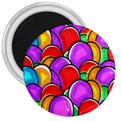 Colored Easter Eggs 3  Button Magnet