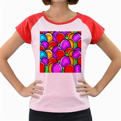 Colored Easter Eggs Women s Cap Sleeve T-Shirt (Colored)