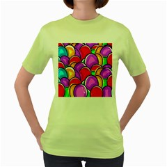 Colored Easter Eggs Women s T-shirt (Green)