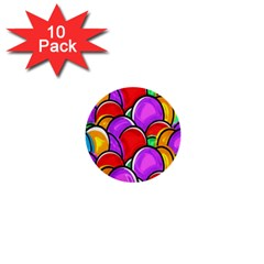 Colored Easter Eggs 1  Mini Button (10 pack)