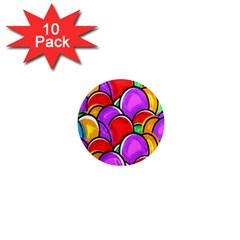 Colored Easter Eggs 1  Mini Button Magnet (10 pack)
