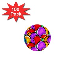 Colored Easter Eggs 1  Mini Button (100 Pack)