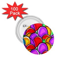 Colored Easter Eggs 1 75  Button (100 Pack)