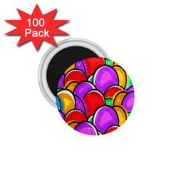 Colored Easter Eggs 1.75  Button Magnet (100 pack)