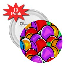 Colored Easter Eggs 2.25  Button (10 pack)