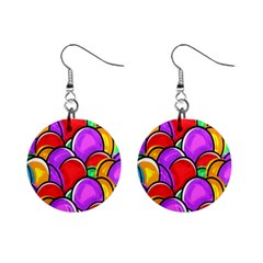 Colored Easter Eggs Mini Button Earrings