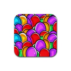 Colored Easter Eggs Drink Coaster (Square)
