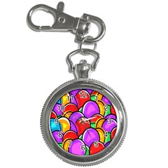 Colored Easter Eggs Key Chain Watch
