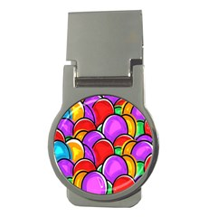 Colored Easter Eggs Money Clip (Round)