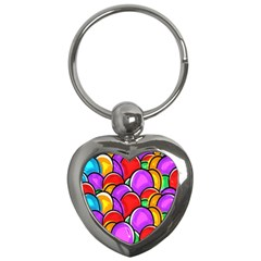 Colored Easter Eggs Key Chain (Heart)