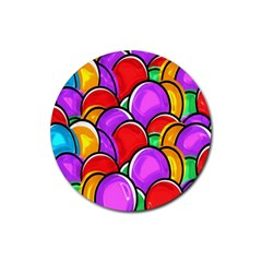 Colored Easter Eggs Drink Coaster (Round)