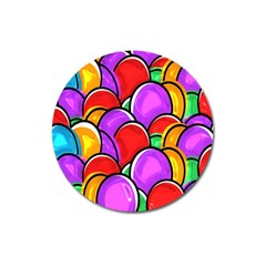 Colored Easter Eggs Magnet 3  (round)