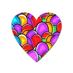 Colored Easter Eggs Magnet (Heart)