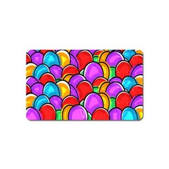 Colored Easter Eggs Magnet (Name Card)