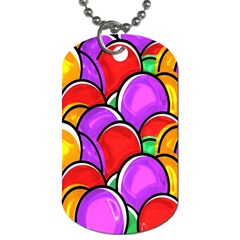 Colored Easter Eggs Dog Tag (One Sided)