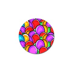 Colored Easter Eggs Golf Ball Marker 10 Pack