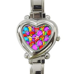 Colored Easter Eggs Heart Italian Charm Watch