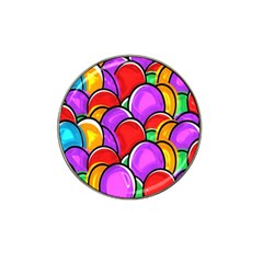 Colored Easter Eggs Golf Ball Marker 4 Pack (for Hat Clip)