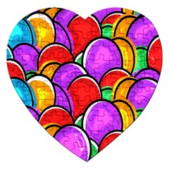 Colored Easter Eggs Jigsaw Puzzle (Heart)